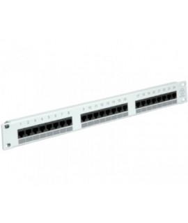 "ROTRONIC Value Patch panel 19"" 24port Cat5e UTP sivi"