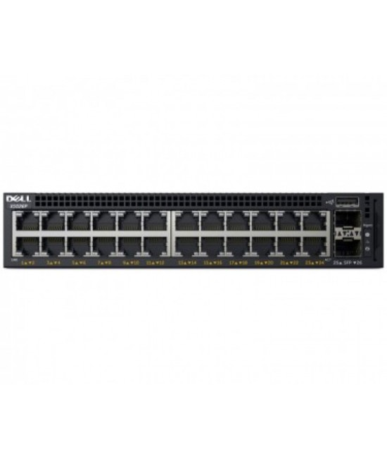 DELL Networking X1026P 24port + 2 SFP Managed Smart PoE switch + Rack Mount